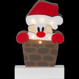 Indendørs deko lys Julemand Freddy