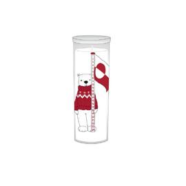 Nanoq Kalenderlys i glas H21 cm