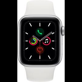 Apple Watch 5 40 mm sølv aluminium/hvid