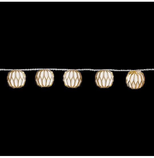Lyskæde Origam guld 225 cm