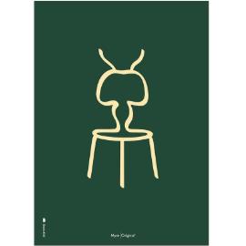 Plakat Myre m/sandfavet baggrund 30x40 cm