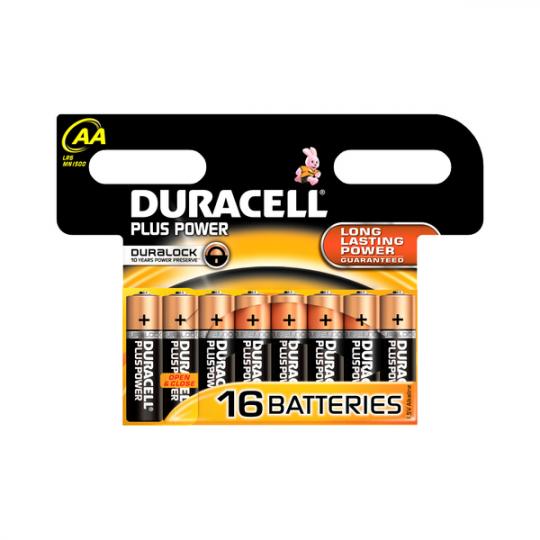 Duracell Plus Power AA Alkaline Batteries 16pk