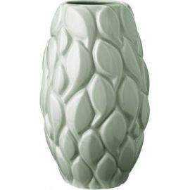 Leaf, vase, celadon, 26 cm