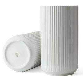 Lyngby Vase H38 hvid porcelæn