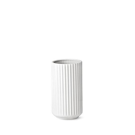 Lyngby Vase H10,5 hvid porcelæn