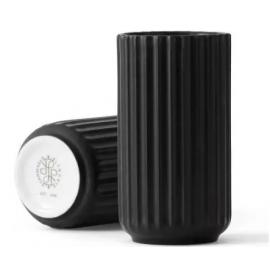 Lyngby Vase H10 sort porcelæn