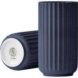 Lyngby Vase H12,5 mid. blue porcelæn