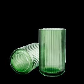 Lyngby Vase, grøn klar H12xD6,5 cm