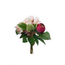 Blomsterbuket cerise 30 cm