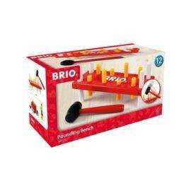 BRIO - Hammerbræt, rød og gul