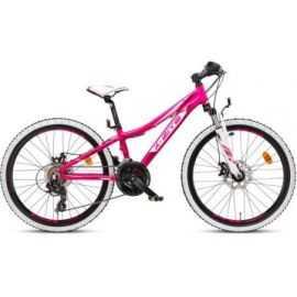 """Mountainbike 24"""" 24.21 21-gear Pink/hvid"""