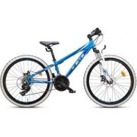 "Mountainbike 24"" 24.21 21-gear blå/hvid"
