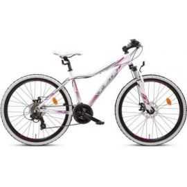"""Mountainbike 26"""" 26.21 21-gear hvid/pink"""