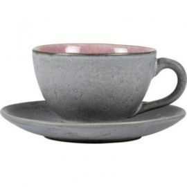 BITZ Kop m/underkop 22 cl grå/lyserød