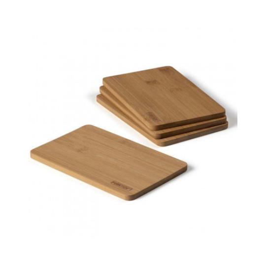 Smørebræt 19x12 cm 4 stk. bambus