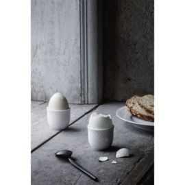 Rhombe Æggebæger Ø5 cm hvid porcelæn 2 stk.