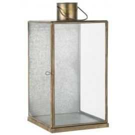Lanterne m/udstanset front H40 metal/glas